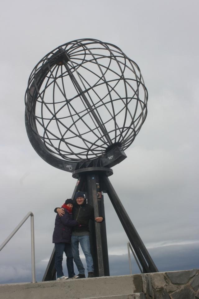met Jan op de noordkaap 2013